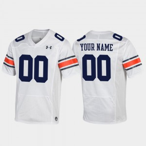 AU #00 Mens Custom Jerseys White High School Football Replica 618186-715