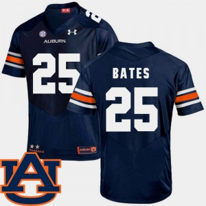 Auburn #25 For Men's Daren Bates Jersey Navy SEC Patch Replica College Football University 886971-914
