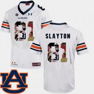Tigers #81 Mens Darius Slayton Jersey White Alumni Football Pictorial Fashion 790785-432