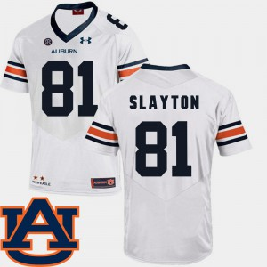 AU #81 Men Darius Slayton Jersey White Embroidery SEC Patch Replica College Football 709460-833