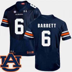 Auburn University #6 For Men Devan Barrett Jersey Navy Embroidery SEC Patch Replica College Football 246796-827