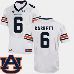 Tigers #6 For Men Devan Barrett Jersey White NCAA SEC Patch Replica College Football 622949-866