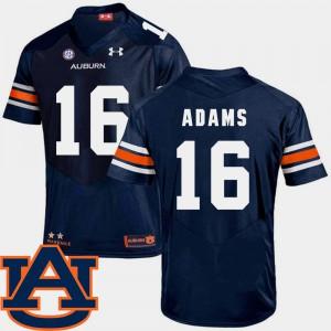 Auburn #16 Men Devin Adams Jersey Navy SEC Patch Replica College Football Player 224689-774