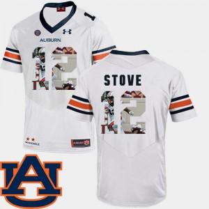 Auburn University #12 For Men Eli Stove Jersey White Football Pictorial Fashion High School 380374-781
