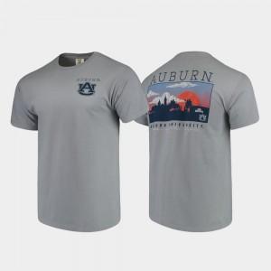 Auburn Tigers Mens T-Shirt Gray Comfort Colors Campus Scenery NCAA 534498-536