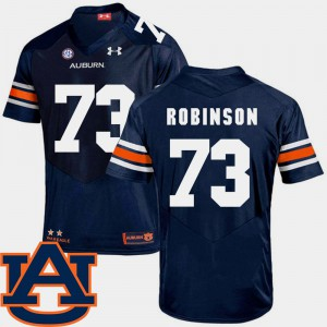 AU #73 For Men's Greg Robinson Jersey Navy College College Football SEC Patch Replica 586582-533