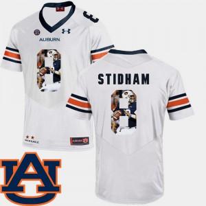 Auburn Tigers #8 For Men's Jarrett Stidham Jersey White Stitch Pictorial Fashion Football 860525-220