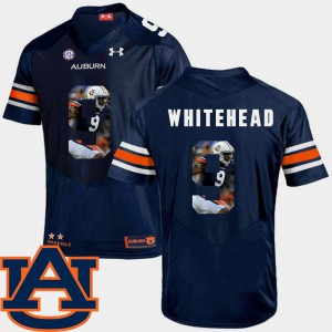 Auburn Tigers #9 Men's Jermaine Whitehead Jersey Navy College Pictorial Fashion Football 816701-637