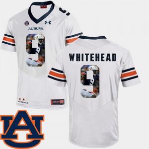 AU #9 Men Jermaine Whitehead Jersey White Football Pictorial Fashion University 737567-293