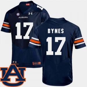 Auburn #17 Men's Josh Bynes Jersey Navy SEC Patch Replica College Football College 234961-440