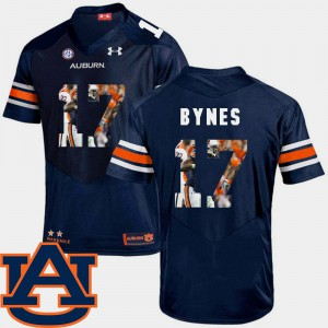 AU #17 For Men Josh Bynes Jersey Navy Alumni Football Pictorial Fashion 149229-990