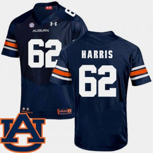 Auburn University #62 Men Josh Harris Jersey Navy Alumni SEC Patch Replica College Football 561210-123