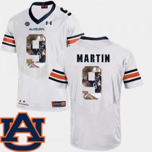 AU #9 Men Kam Martin Jersey White NCAA Football Pictorial Fashion 625640-805