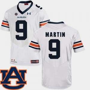Tigers #9 For Men Kam Martin Jersey White Player SEC Patch Replica College Football 538212-327