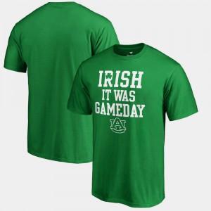 Auburn University Mens T-Shirt Kelly Green University Irish It Was Gameday St. Patrick's Day 911723-663