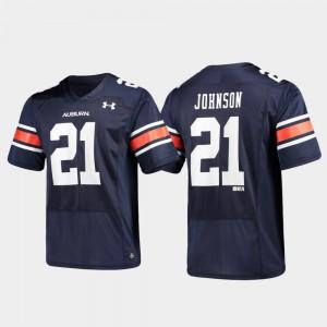 Auburn Tigers #21 For Men's Kerryon Johnson Jersey Navy Stitch Alumni Football Replica 167470-499