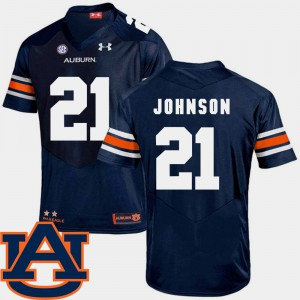 Auburn University #21 Mens Kerryon Johnson Jersey Navy SEC Patch Replica College Football High School 371654-825