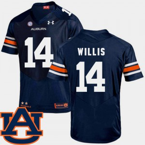 Auburn Tigers #14 For Men Malik Willis Jersey Navy SEC Patch Replica College Football Stitched 958348-905