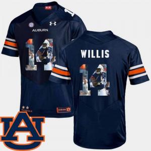 Auburn #14 Men Malik Willis Jersey Navy College Football Pictorial Fashion 369485-172