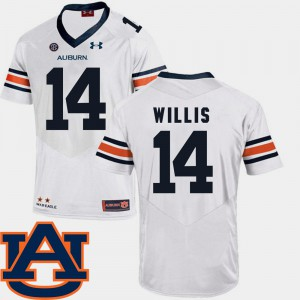 AU #14 For Men's Malik Willis Jersey White Player SEC Patch Replica College Football 227662-213