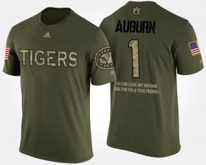 AU #1 Men T-Shirt Camo University No.1 Short Sleeve With Message Military 628598-724