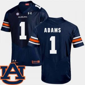 Auburn University #1 Men Montravius Adams Jersey Navy SEC Patch Replica College Football High School 468492-467