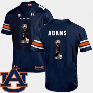 Auburn #1 For Men's Montravius Adams Jersey Navy High School Pictorial Fashion Football 297557-780
