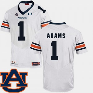 Auburn University #1 Mens Montravius Adams Jersey White High School College Football SEC Patch Replica 248613-729