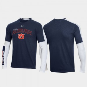 AU Mens T-Shirt Navy Stitched 2020 March Madness OT 2.0 Shooting Long Sleeve 442673-476