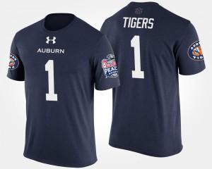AU #1 Mens T-Shirt Navy College No.1 Peach Bowl Bowl Game 786814-373