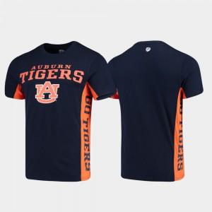 AU Men's T-Shirt Navy Side Bar NCAA 987997-377