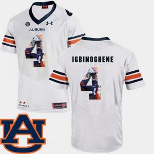 Auburn University #4 For Men's Noah Igbinoghene Jersey White College Football Pictorial Fashion 186330-993