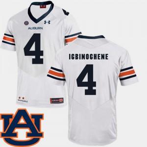 AU #4 Mens Noah Igbinoghene Jersey White Stitched College Football SEC Patch Replica 234988-299