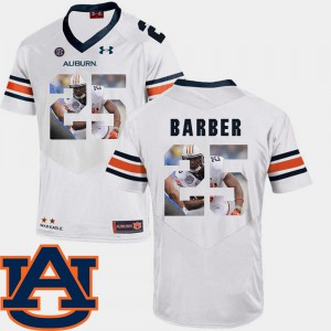 Tigers #25 Men's Peyton Barber Jersey White Football Pictorial Fashion College 938675-999