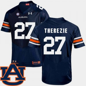 Tigers #27 For Men Robenson Therezie Jersey Navy Official College Football SEC Patch Replica 619531-612