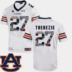 AU #27 Men's Robenson Therezie Jersey White Stitch Pictorial Fashion Football 222576-203