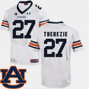 Auburn #27 For Men's Robenson Therezie Jersey White SEC Patch Replica College Football Player 438366-608