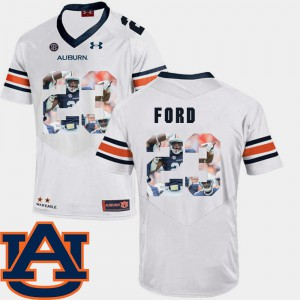 AU #23 For Men Rudy Ford Jersey White Player Football Pictorial Fashion 288129-736