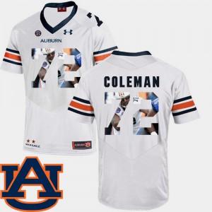 AU #72 Mens Shon Coleman Jersey White Football Pictorial Fashion Stitched 593957-963