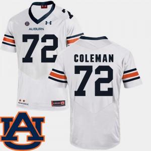 Auburn #72 Mens Shon Coleman Jersey White Alumni College Football SEC Patch Replica 594451-902