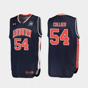 AU #54 For Men's Thomas Collier Jersey Navy Replica 2019 Final-Four College 591686-268