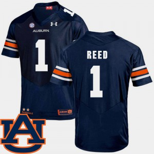 Auburn University #1 For Men Trovon Reed Jersey Navy Stitch SEC Patch Replica College Football 870708-856