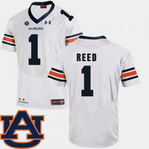 AU #1 For Men's Trovon Reed Jersey White College College Football SEC Patch Replica 436089-441